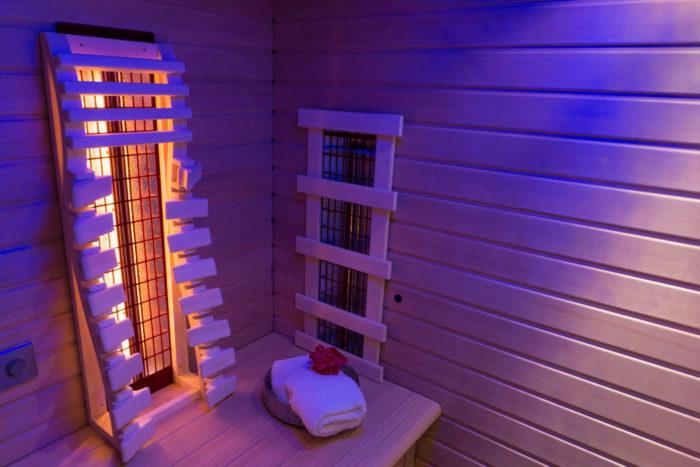 Infrared Sauna In Ultra Violet Light
